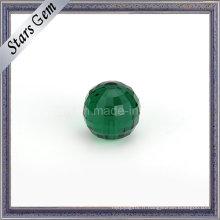 Perles carrées en verre émeraude avec carreaux et carreaux