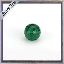 Square Checker Cut Emerald Color Glass Beads with Hole