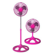 10inch Industrial Stand Fan 2 in 1 Pink Color (FS25A21)