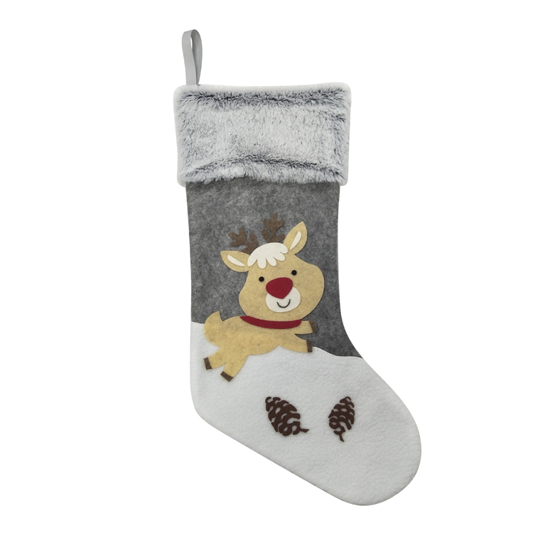 Reindeer christmas stocking