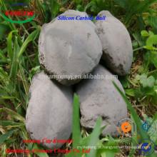 Briquete de carboneto de silício Sic bola 90%, 85%, 60%, 45% da China fabricante