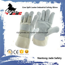 Cinza Industrial Safety Cowhide Split Leather Hand Hand Glove