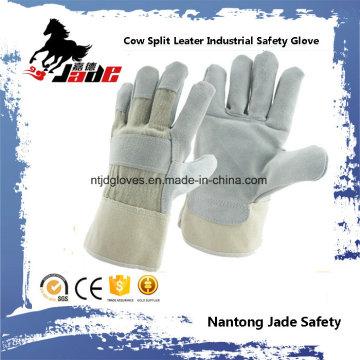 Cinza Industrial Safety Cowhide Split Leather Hand Hand Glove