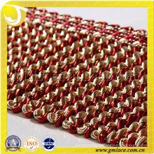 11CM de seda dorada frita torsión Fringe Cortina Accesorio accesorios y material de trenzado