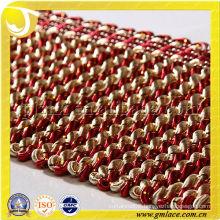 11CM Golden Silk Fried Dough Twist Fringe Curtain Accessory Trims And Braiding Material