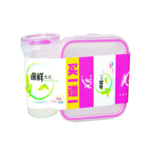 Plastic Food Container And Plastic Cup Set