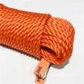 Orange PE 3 Strands Twist Rope Untuk Outdoor