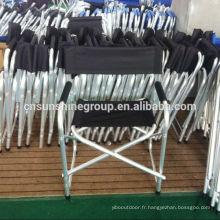 Chaise de camping pliable siège avec accoudoir