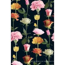 Rose / Nelke Blume Druckstoff aus Polyester Garment