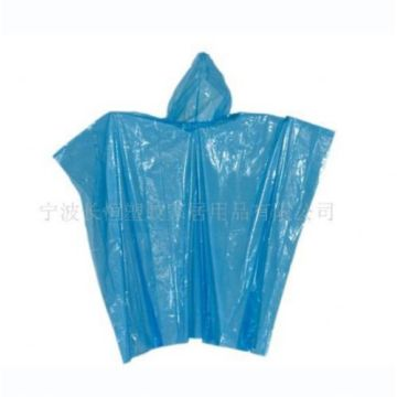 venda por atacado PE one time use poncho rain