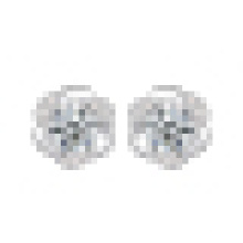 Women′s Fashion 925 Sterling Silver Inlay Crystal Plum-Shaped Earrings