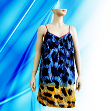 100% coton Lady's Allover Print Nightdress