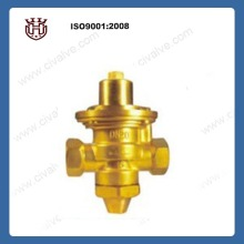 brass water flow control valve for HVAC system