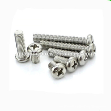 Stainless Steel pan head phillips screw for Communication Equipment