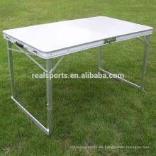 Mesa plegable y silla portátil Mesa plegable y mesa de aluminio