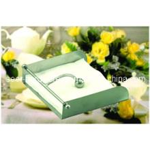 """Edelstahl Elegant Serviettenhalter / """"Laid Down"""" Stil Metall Serviette Halter / Tissue Box Serviette Halter / Serviette Ring (SE3305)"""