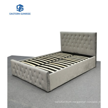 Modern Style Strong Quality Villa Furniture Velvet Storage Bed for Double Queen King Size