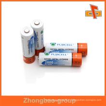 Tube enveloppant rétractable imprimable rétractable personnalisable à sensibles à la chaleur avec votre logo pour le paquet de la batterie