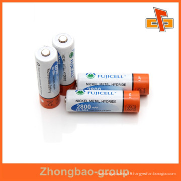 customizable heat sensitive shrinkable printable shrink wrap tube with your logo for battery package
