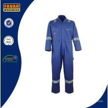 Azul algodón ignífugo Reflcective seguridad ropa de trabajo Overol
