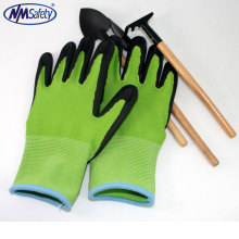 NMSAFETY 13G nylon liner latex foamed gloves /flower latex coating working glove/garden safety gloves