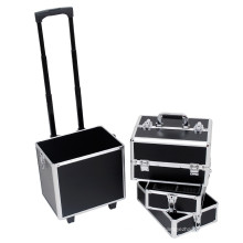 good quality train aluminum hairdressing tool make up case