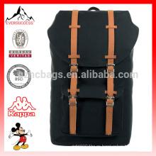Mochila americana caqui de moda 16oz lienzo, mochila, mochila HCB0040