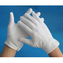 cotton inspection working gloves with three line on back
