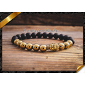 La aleación de oro hecha a mano de la manera rebordea la joyería de las pulseras del macrame (CB043)