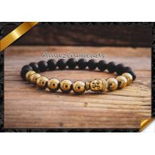 Moda Handmade liga de ouro Beads Macrame Pulseiras Jóias (CB043)