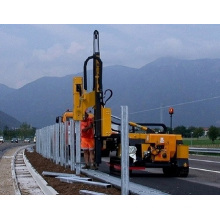 Highway guardrail fix pile driving machine