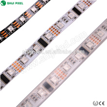 5m rollo 12v y 24v 60 leds / m dmx led flexible rgb tira de luz 5050