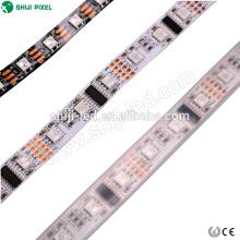 5m rollo 12v y 24v 60 leds / m dmx led flexible rgb tira de luz 5050