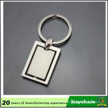 Mirror Shiny Square Blank Keychain