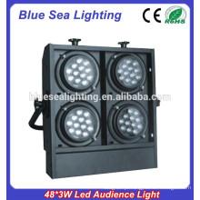 48 * 3W quente conduziu luz do visor / luz conduzida da audiência / luz conduzida do cego