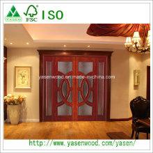 Porte intérieure en bois massif fini Porte intérieure solide