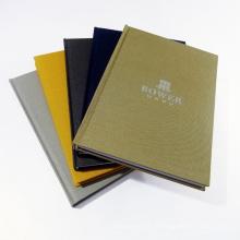 Qualitäts-kundenspezifische Folie, die Notizbuch der gebundenen Ausgabe stempelt
