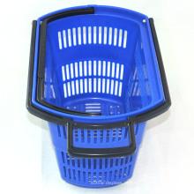 Cesta de compras plástica da mão do supermercado do rolamento de Wholsale