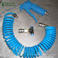 Pistolas de aire neumáticas de cobre amarillo azules de la manguera de la bobina de la PU con la manguera