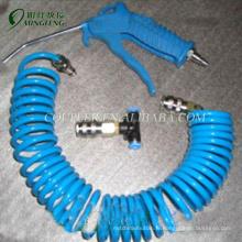 Pistolets pneumatiques pneumatiques en laiton de tuyau de bobine d'unité centrale bleue avec le tuyau