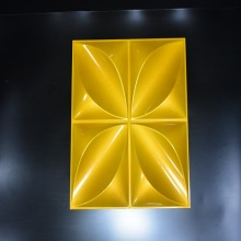 Fire Resistant Decorative Wall Panel with Petal Pattern