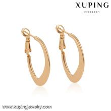 94478 nuevos diseños de la joyería del pendiente del aro de oro de la manera del tamaño libre verano nuevo