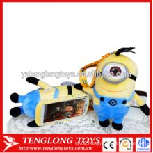 Cute mini Despicable me 2 Plush Mobile Phone Case For iPhone 6
