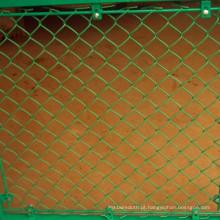 Cerca provisória galvanizada então do elo de corrente do PVC