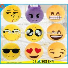 Hot Selling High quality Novelty Design Amarelo Emoji Almofada Facial Expression Plush Pillow