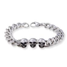 Acier inoxydable Biker Skeleton Bijoux Hommes Skull Link Chain Bracelet