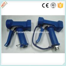 Pistolet de lavage robuste en acier inoxydable de couverture bleue