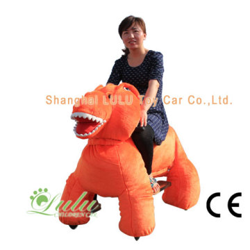 dinosaur walking animals car