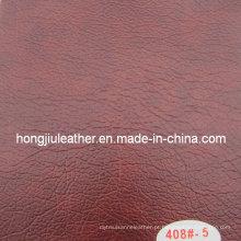 Couro de PVC vermelho escuro Deluxe para móveis (Hongjiu-408 #)