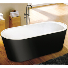 CE, Cupc Black Skirt Freestanding Toe-Tap Drain Bath